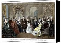 Founding Father Canvas Prints - Franklins Reception At The Court Of France Canvas Print by War Is Hell Store