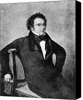 Schubert Canvas Prints - Franz Peter Schubert, Austrian Composer Canvas Print by Omikron