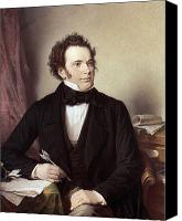 Schubert Canvas Prints - Franz Schubert (1797-1828) Canvas Print by Granger