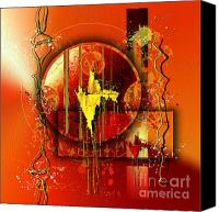 Orange Digital Art Canvas Prints - Franziskus Canvas Print by Franziskus Pfleghart