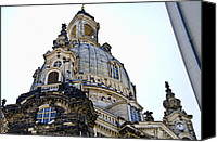 Frauenkirche Canvas Prints - Frauenkirche - Dresden Germany Canvas Print by Jon Berghoff