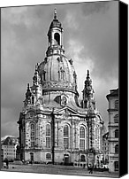 Religions Canvas Prints - Frauenkirche Dresden - Church of Our Lady Canvas Print by Christine Till