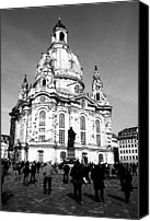 Frauenkirche Canvas Prints - Frauenkirche Canvas Print by Falko Follert