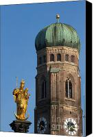 Frauenkirche Canvas Prints - Frauenkirche Munich Canvas Print by Andrew  Michael
