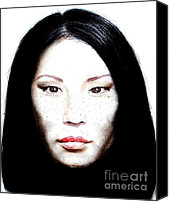 Jim Fitzpatrick Canvas Prints - Freckle Faced Beauty Lucy Liu  II Canvas Print by Jim Fitzpatrick