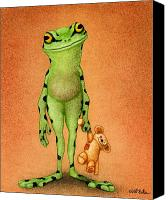 Humorous Canvas Prints - Fred and Ted... Canvas Print by Will Bullas