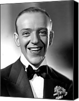 Black Tie Photo Canvas Prints - Fred Astaire, 1935 Canvas Print by Everett