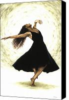 Dancer Painting Canvas Prints - Free Spirit Canvas Print by Richard Young