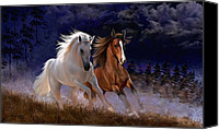 Horse Canvas Prints - Free Spirits Canvas Print by Thanh Thuy Nguyen