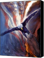 Bald Eagle Canvas Prints - Freedom Eagle Canvas Print by Carol Cavalaris