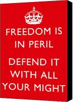 Warishellstore Canvas Prints - Freedom Is In Peril Canvas Print by War Is Hell Store