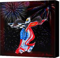 4th July Digital Art Canvas Prints - Freedom Canvas Print by Patricia Stalter