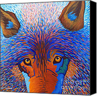 Dogs Canvas Prints - Freedom Run Canvas Print by Brian  Commerford