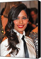 Black Tie Photo Canvas Prints - Freida Pinto At Arrivals For Alexander Canvas Print by Everett