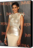 Nokia Theatre Canvas Prints - Freida Pinto At Arrivals For Immortals Canvas Print by Everett