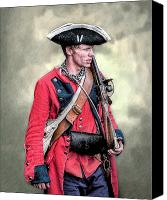 American Revolution Canvas Prints - French and Indian War British Royal American Soldier Canvas Print by Randy Steele