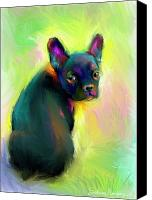 Austin Pet Artist Canvas Prints - French Bulldog painting 4 Canvas Print by Svetlana Novikova