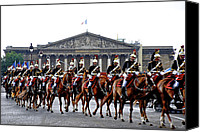 Inaugural Parade Canvas Prints - French Calvary Canvas Print by Eric Tressler