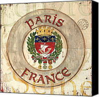 Coat Of Arms Canvas Prints - French Coat of Arms Canvas Print by Debbie DeWitt