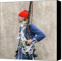 American Revolution Canvas Prints - French Colonial Soldier French and Indian War  Canvas Print by Randy Steele