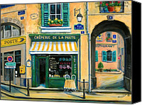 Shop Painting Canvas Prints - French Creperie Canvas Print by Marilyn Dunlap