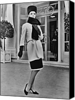 Long Gloves Canvas Prints - French Designer, Christian Dior Canvas Print by Everett