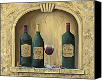Coat Of Arms Canvas Prints - French Estate Wine Collection Canvas Print by Marilyn Dunlap