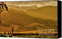 Countryside Canvas Prints - French Laundry Vista Canvas Print by Mars Lasar