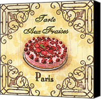 Shop Painting Canvas Prints - French Pastry 1 Canvas Print by Debbie DeWitt