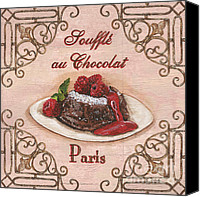 Shop Painting Canvas Prints - French Pastry 2 Canvas Print by Debbie DeWitt