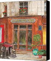 Dine Canvas Prints - French Storefront 1 Canvas Print by Debbie DeWitt