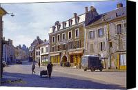 Signed Canvas Prints - French Village Canvas Print by Chuck Staley