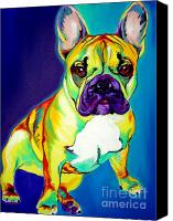 French Bulldog Canvas Prints - Frenchie - Tugboat Canvas Print by Alicia VanNoy Call