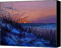 Landscape Pastels Canvas Prints - Frenchys Sunset Canvas Print by Susan Jenkins