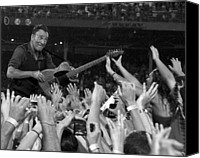 E Street Band Canvas Prints - Frenzy at Fenway II Canvas Print by Jeff Ross