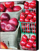 Fruit Markets Canvas Prints - Fresh Market Fruit Canvas Print by Jeff Kolker