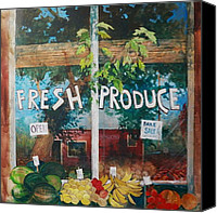 Mjonesart Canvas Prints - Fresh Produce Canvas Print by Micheal Jones