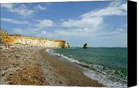 England Canvas Prints - Freshwater Bay Beach Canvas Print by Rod Johnson