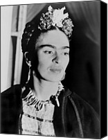 Fine Arts Canvas Prints - Frida Kahlo 1907-1954, Mexican Artist Canvas Print by Everett