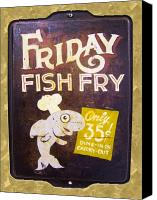 Found Object Canvas Prints - Friday Fish Fry Canvas Print by William Krupinski