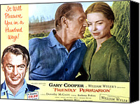 1956 Movies Canvas Prints - Friendly Persuasion, Gary Cooper Canvas Print by Everett