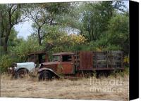 Old Trucks Canvas Prints - Friends to the End Canvas Print by Mary Deal