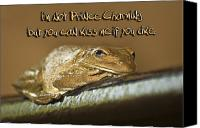 Fun Frog Canvas Prints - Frog Prince Canvas Print by Carolyn Marshall