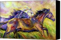Williams Painting Canvas Prints - Frolic Canvas Print by Diane Williams