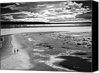Beach Photograph Canvas Prints - From Here To Eternity  Bailey Island Maine Canvas Print by Bob Orsillo