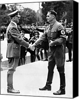 Adolf Canvas Prints - From Left, Adolf Hitler, Deputy Rudolf Canvas Print by Everett