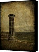 Column Canvas Prints - From The Ruins Of A Fallen Empire Canvas Print by Evelina Kremsdorf