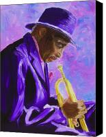 Sax Art Painting Canvas Prints - From The Soul Canvas Print by Michael Lee