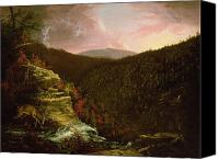 Cole Canvas Prints - From the Top of Kaaterskill Falls Canvas Print by Thomas Cole