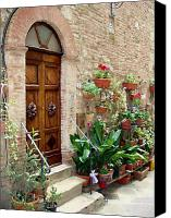 Italian Canvas Prints - Front Door Canvas Print by Ellen Henneke